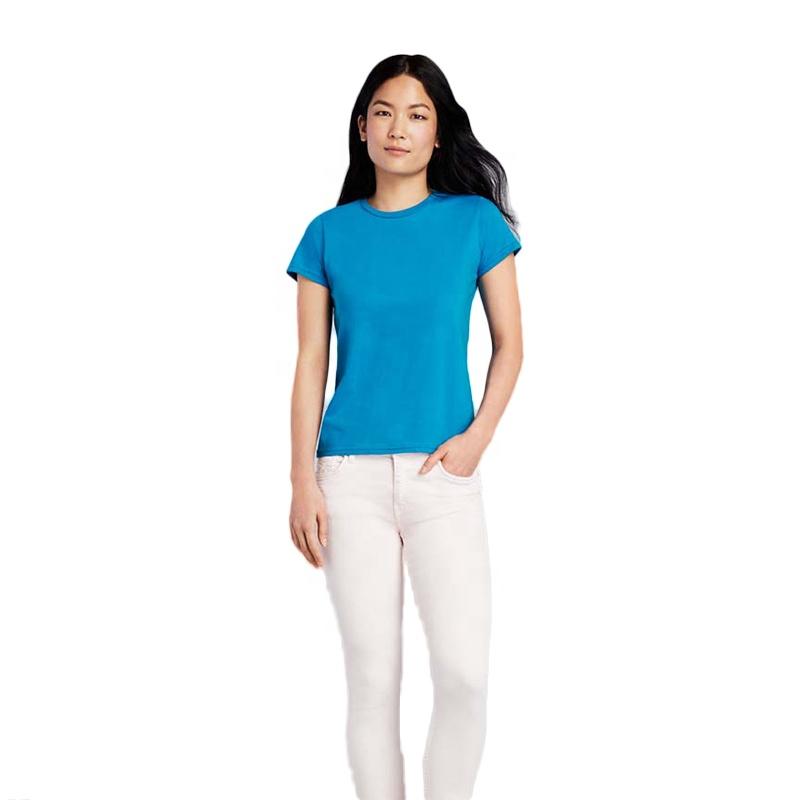 Горячая продажа пользовательские печатные женщины белая леди футболка