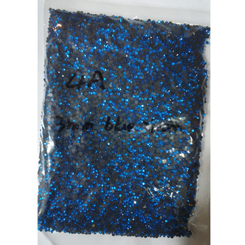 0507W SS20 blue zircon 70GROSS Flat Back Hot fix bulk bling rhinestones beads for shirts and jeans