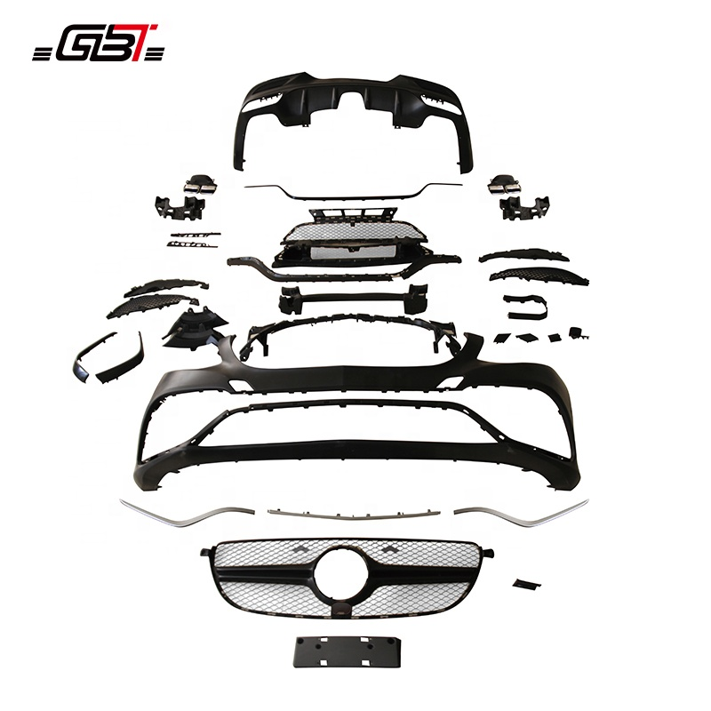 GBT PP ABS BODY KIT WITH FRONT REAR BUMPER GRILLE CHROME STRIP AND HEADLIGHT YEAR 2015-ON FOR MERCEDES BENZ GLE W292 Coupe Model