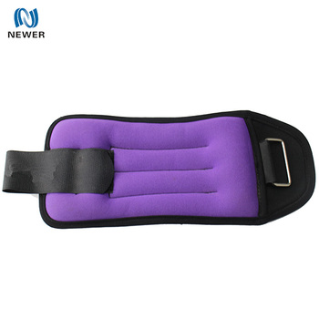 Wholesale oem high quality purple sport gym exercise training 1kg 2kg 5kg custom design neoprene sand wrist ankle weights