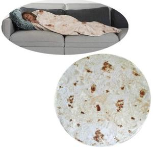 dropshipping Polyester Mexican Burrito Blanket Comfort Food Creations Burrito Wrap Blanket Perfectly Round Tortilla Throw new