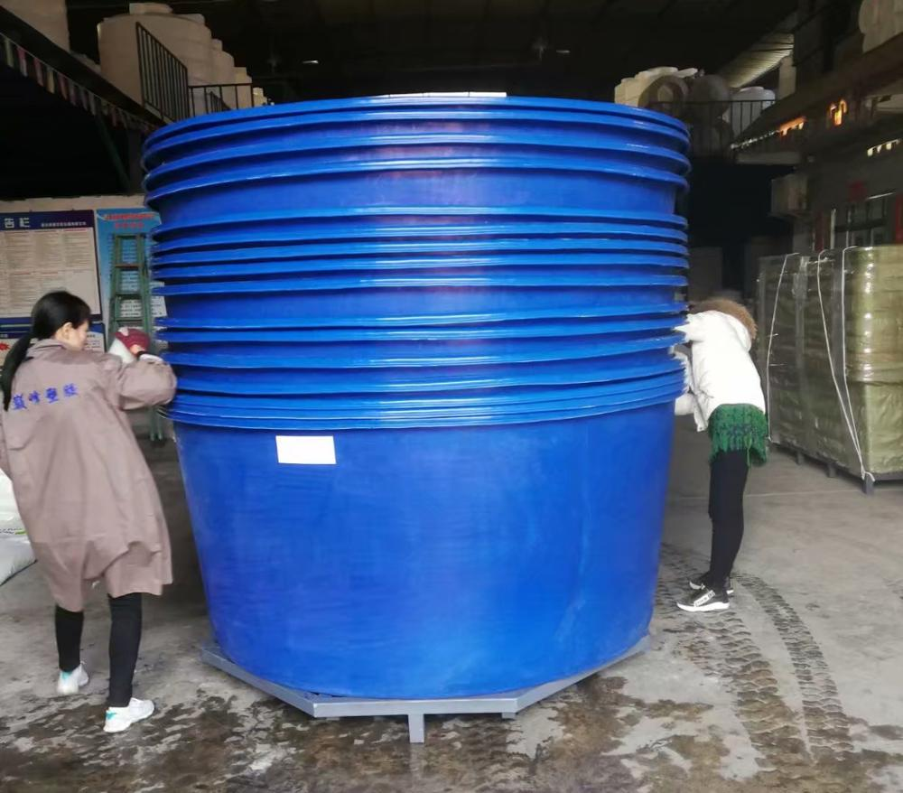 China fabriek plastic aquacultuur ronde visteelt tank met deksel