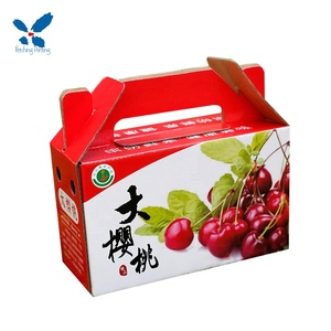 2019 High quality Customized soft/luxury paper packaging fruit box/cherry gift box/ shaped boxes/suitcases