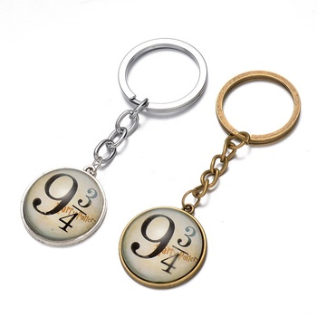 Custom Your Own Logo Metal Epoxy Famous Movie Harry 9 3/4 Number Keychain