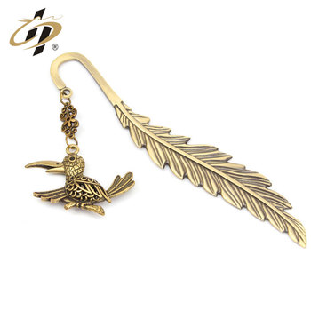 Wholesale low price new arrival flowers metal bookmark