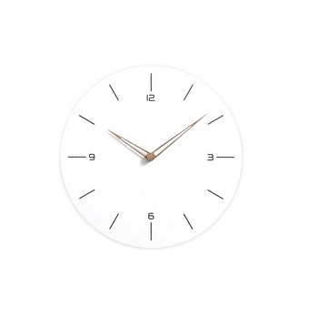 Modern Brief Style Creative School Decorative Silent Sweep White Circle Wall Clock