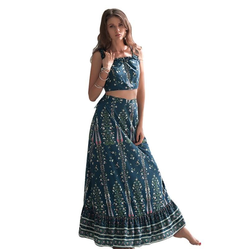 e691aa8d2 Nueva moda ropa de verano Casual de dos piezas vestido de las mujeres de dos  piezas