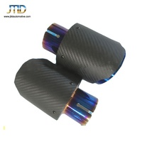 High Quality For AK Style Auto Carbon Fiber Stainless steel Exhaust Tip