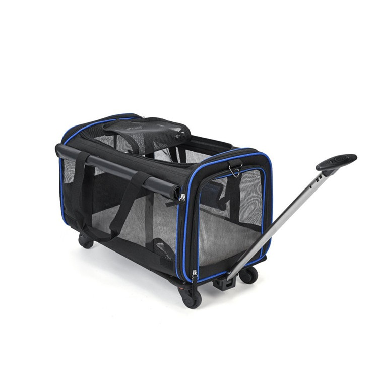 Airline Approved Breathable Mesh Pet <strong>Dog</strong> Travel Trolley Handbag <strong>Bag</strong> <strong>Dog</strong> <strong>Carrier</strong> With Wheels