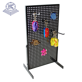 pegboard keychain display stand