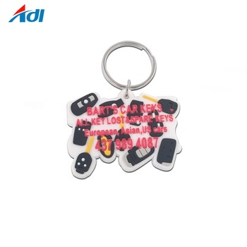 hot selling customized soft pvc rubber personalised keychains