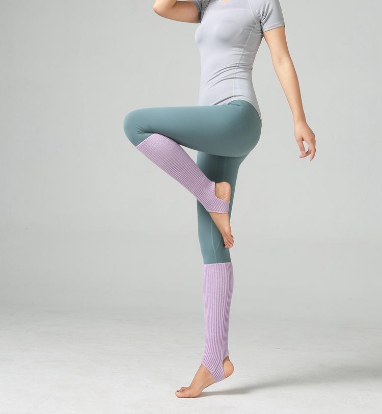 99fdbaaff Las mujeres hasta la rodilla Knit Yoga pata Flip Flop boda calcetines de  baile de Ballet