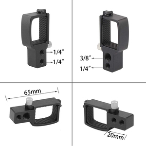 High quality aluminum alloy CNC precision machining OSMO pocket PTZ camera adapter bracket expansion accessories