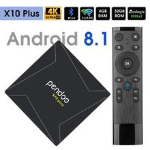 Android 8,1 tv <span class=keywords><strong>os</strong></span> caja Pendoo X10 Plus Amlogic S905X2 4 K 4 GB DDR4 RAM 32G ROM KD jugador 18,0 caja de Tv inteligente 10 Plus