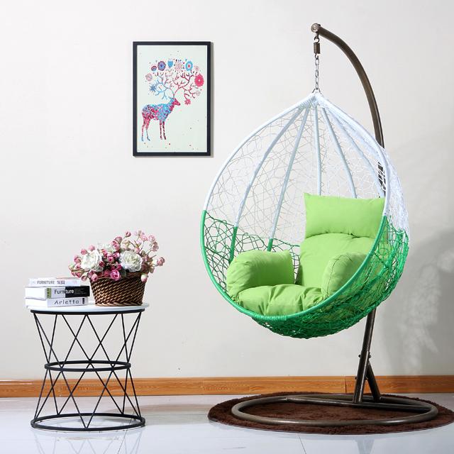 Повседневное напольное подвесное кресло из ротанга PE плетеное одиночное кресло-качалка на открытом воздухе