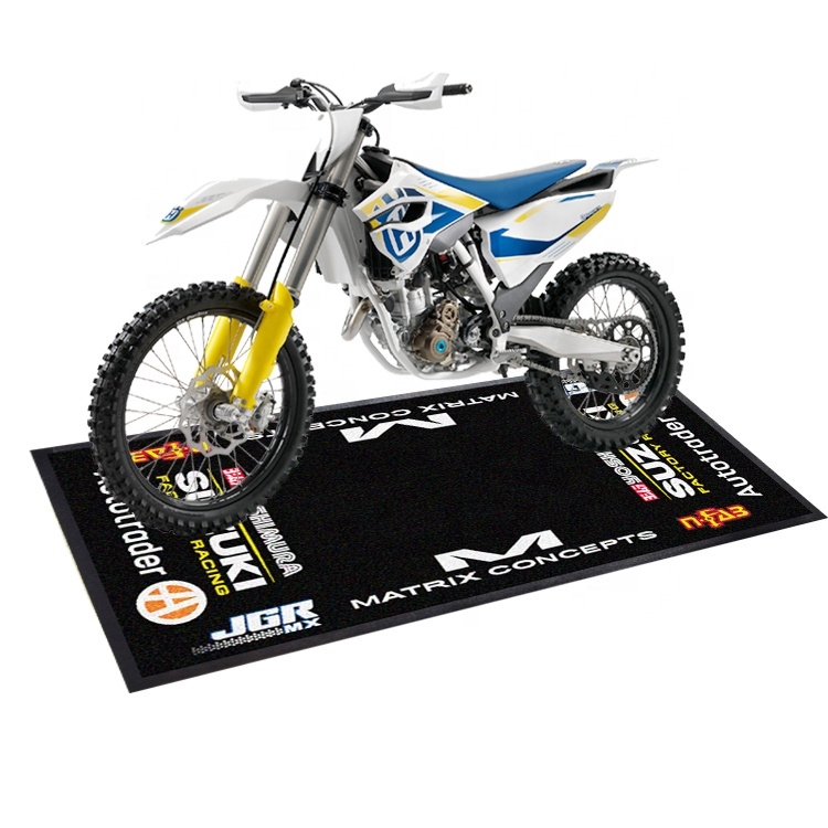 Oil and petrol resistant workshop motorcycle pit mat