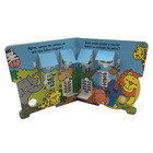 Custom Shape Children Story Book Board Book Lift The Flap Book