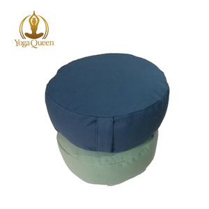 Wholesale Yoga Meditation Cushion with Zipper Round Meditation Pillow Bolster Filled with Buckwheat Hulls