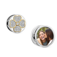 The Best Gift Custom Personalized photo frame Charm DIY Photo bead 925 Sterling Silver