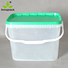 9L rectangle printed car wash plastic bucket with plastic handle