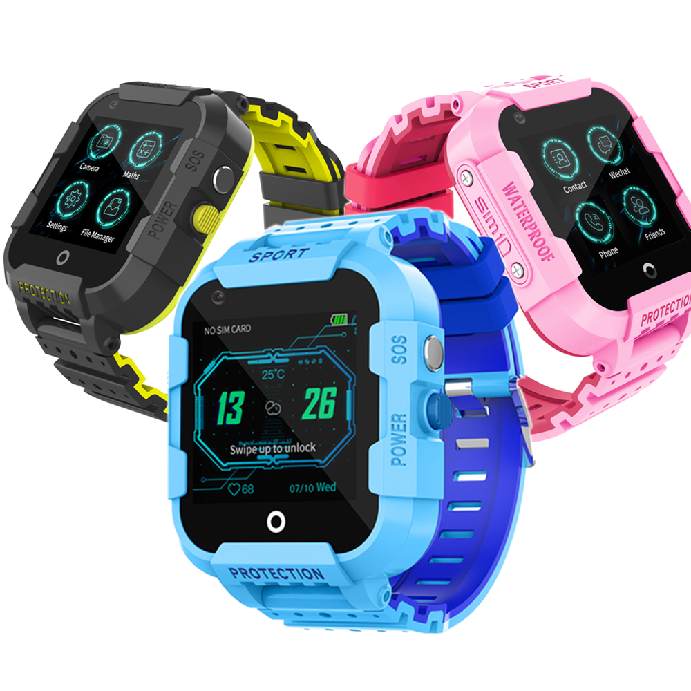 Kids Smart Watch <strong>SIM</strong> 4G Cards DF39 IP67 Waterproof SOS Call GPS Location Tracker Children Smartwatch Bracelet