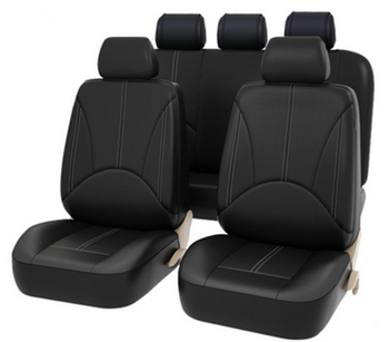 Universal Black  Artificial  Leather Car Seat Cover