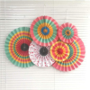 OEM 6pcs Colorful Theme Party Fans, Vivid Color New Year 2019 Paper Decorations Set, Funny Birthday Party Supplies