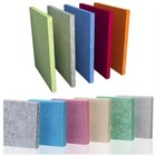Heat resistant sound absorbing wall panels felt fabric board