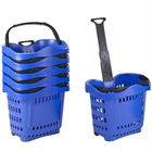 shopping basket large plastic baskets with handles handbasket grocery trolley
