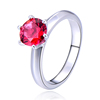 POLIVA Pear Cut Round Genuine 925 Sterling Silver Red Ruby Gemstone Daily Wear Rings for Women