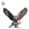 customized size resin birds statue fiberglass flying eagle sculpture for theme park FST-18