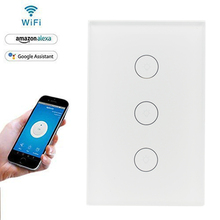 NEW USA Smart Home Wifi Touch Dimming Switch Housing, ผนังไฟฟ้า Light Sensor Switch