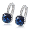 98398 xuping alloy rhodium plated earrings, fashion women cz square earrings