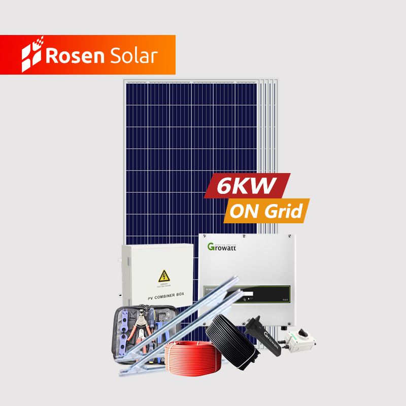 1kw 3kw 5kw 6kw solar system home solar power package 6kw grid tie inverter us 5kw on grid solar energy systems