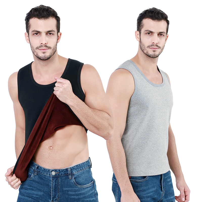 high quality materials comfortable and soft inner wear for mens Autumn winter waist coat thermal vest