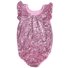 Groothandel Boutique Kids <span class=keywords><strong>Baby</strong></span> Kleding Leuke Sequin Zomer Romper