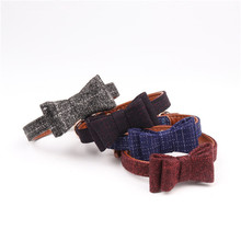 Günstige pet supplies bowknot fleece <span class=keywords><strong>stoff</strong></span> seil hundehalsband