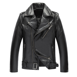 China manufacture motorcycle leather jacket men