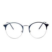 Wholesale high half rim myopia glasses,round metal optical frame