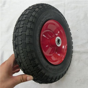 pneumatic 12 inch wheel for wholesales Natural rubber wheel 3.50-6