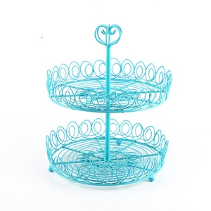 2 tier wedding decorate Wire Cake Holder cupcake stand