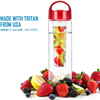 TF-SS703 Empty clear plastic wholesale products plastic fruit infuser clear cartridge bottle portable water bottle for kids