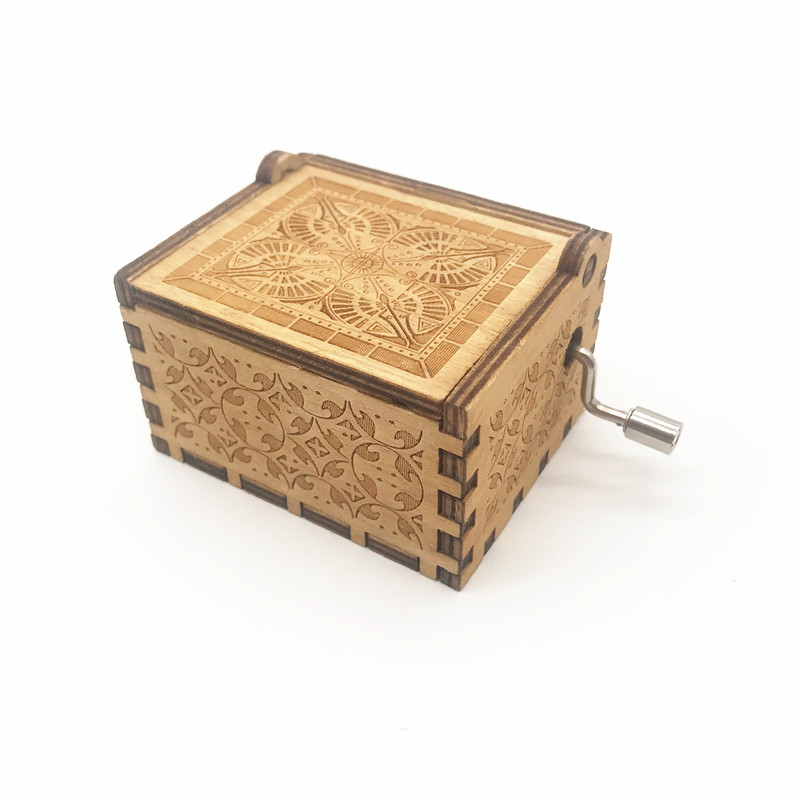 Custom wooden hand crank music box