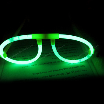 Flashing 5*200mm festival glow stick glasses in the dark