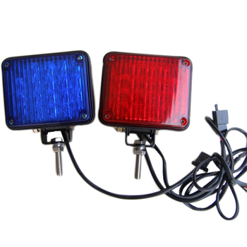 Blue And Red Square Led Strobe Emergency Head Lights For Motorcycle - Buy  Led Emergency Lights For Motorcyle,Motorcycle Strobe Light,Motorcycle