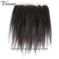 VMAE Wholesale 9A 10A Malaysian Indian #1#1B #2 #4 Afro Kinky Curly Body Loose Water Deep Wave Human Hair Lace Frontal Closure