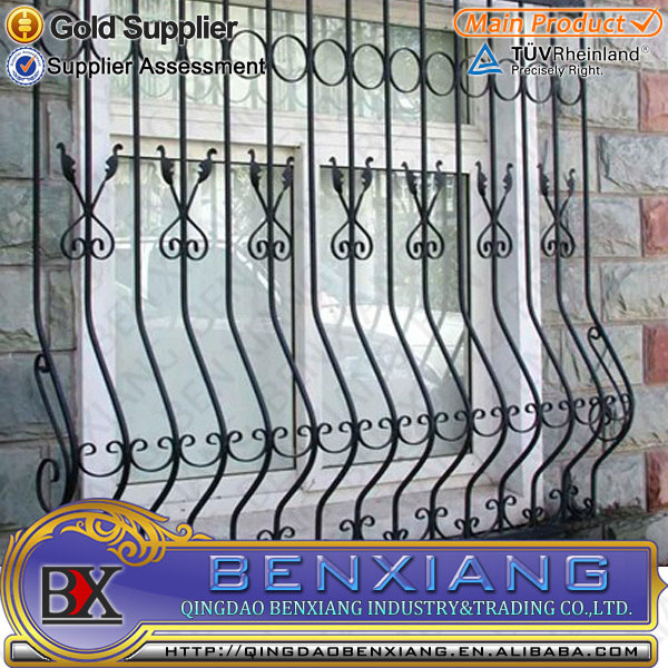 Steel Wrought Iron Window Grill Design
