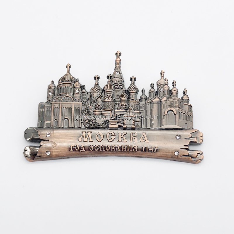 Russia Moscow Souvenir <strong>Fridge</strong> <strong>Magnets</strong> Stock for Sale Church Buildings Engraved Metal <strong>Magnet</strong> for <strong>Fridge</strong>