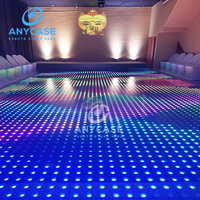 Beautiful Optical magic illusions led stage light digital dance floor for night club