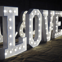 Illuminated Sign 4ft giant love letters marquee Led Light Up lights for indoor